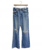 DAIRIKU(ダイリク)の古着「21SS Damage Flare Denim Pants」 インディゴ