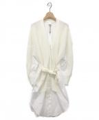 ELENDEEK(エレンディーク)の古着「シャツニットカーディガン」|ホワイト