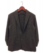 ()の古着「ウールテーラードジャケット」|ブラウン×ブラック