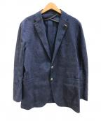 TAGLIATORE(タリアトーレ)の古着「リネン混ムジェッロジャケット」|ネイビー