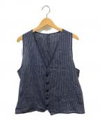 EMPORIO ARMANI(エンポリオアルマーニ)の古着「ストライプジレ」|ブルー