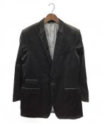 DOLCE & GABBANA(ドルチェ&ガッバーナ)の古着「MARTINI / ベロアテーラードジャケット」|ブラック