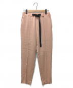 Ujoh(ウジョー)の古着「Tape-Belt Tapered Pants」|ピンク