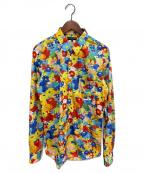 COMME des GARCONS Homme Plus(コムデギャルソン オムプリュス)の古着「フラワープリントシャツ」 イエロー×レッド