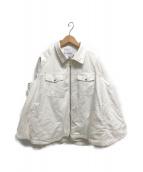 ()の古着「ミリタリーツイルフレアブルゾン」 ホワイト