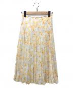 ANAYI(アナイ)の古着「SポピーPTプリーツスカート」|ホワイト