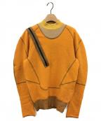 TOGA ARCHIVES(トーガアーカイブス)の古着「ジップショルダーニット」|オレンジ