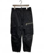 DSQUARED2(ディースクエアード)の古着「COMBAT STYLE COTTON PANTS」|ブラック