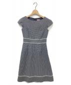 ()の古着「WATER GLASS ドレス」|ネイビー