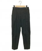 YORI(ヨリ)の古着「サマーピンタックパンツ」|ブラック
