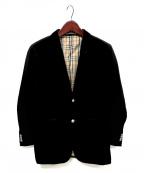 BURBERRY BLACK LABEL(バーバリーブラックレーベル)の古着「メタルボタンベロアジャケット」 ブラック
