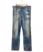 LEVI'S(リーバイス)の古着「ダメージ加工デニムパンツ」|ブルー