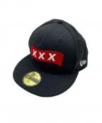 GOD SELECTION XXX(ゴットセレクショントリプルエックス)の古着「キャップ」|ブラック