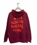 anti social social CLUB(アンチソーシャルソーシャルクラブ)の古着「パーカー」 レッド