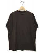()の古着「ハイゲージコットンTシャツ」 ブラウン