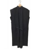 ()の古着「リネンシャツワンピース」 ブラック
