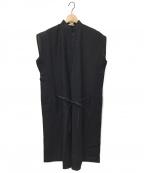 NEHERA(ネヘラ)の古着「リネンシャツワンピース」|ブラック