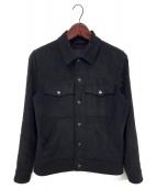 ()の古着「スエードジャケット」|ブラック