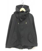 ()の古着「ショートモッズコート」 ブラック