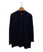COMOLI(コモリ)の古着「ベタシャンバンドカラーシャツ」|ネイビー
