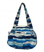 mina perhonen(ミナ ペルホネン)の古着「ハンドバッグ」|ブルー