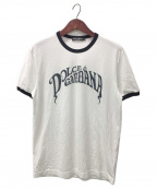 DOLCE & GABBANA(ドルチェ&ガッバーナ)の古着「リンガーTシャツ」|ホワイト×ブラック