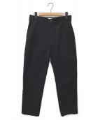 ()の古着「FLAT FRONT TAPERED PANT」 ブラック