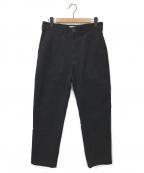 STUDIO NICHOLSON(スタジオニコルソン)の古着「FLAT FRONT TAPERED PANT」|ブラック