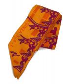 ()の古着「ツイリースカーフ」 オレンジ