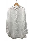 ()の古着「FRENCH LINEN ビッグシャツ」 ホワイト