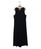 kei shirahata(ケイシラハタ)の古着「ジップアップドレスオールインワン」 ブラック