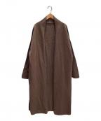 DEUXIEME CLASSE(ドゥーズィエム クラス)の古着「Twins cottonロングガウンコート」|ブラウン