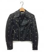 alice+olivia(アリスアンドオリビア)の古着「レザーライダースジャケット」 ブラック
