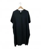 NO CONTROL AIR(ノーコントロールエアー)の古着「Vネックフレンチスリーブワンピース」|ブラック
