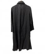 fog linen work(フォグリネンワーク)の古着「フェイコート」 ブラック