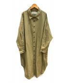 ()の古着「コットンウィンディシャツドレス」 カーキ