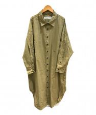 THE SHINZONE (ザ シンゾーン) コットンウィンディシャツドレス カーキ サイズ:F