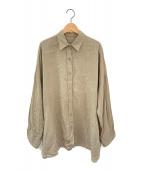 ()の古着「WIDE LINEN シャツ」|カーキ