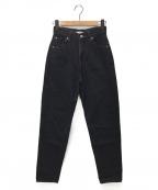 leno(リノ)の古着「ハイウエストジーンズ」|ブラック