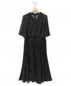 CELFORD(セルフォード)の古着「ドットプリーツワンピース」|ブラック