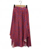 DOUBLE STANDARD CLOTHING(ダブルスタンダードクロージング)の古着「パプリカ柄スカート」 ブルー