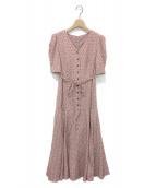 ()の古着「バリエーションプリントワンピース」|ピンク
