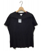 ()の古着「メッシュパネルTシャツ」|ブラック