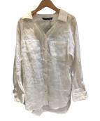 ()の古着「リネンシャツ」 ホワイト
