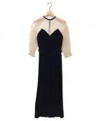 Ameri VINTAGE(アメリヴィンテージ)の古着「TULLE SLEEVE TIGHT DRESS」 ブラック