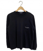 COMME des GARCONS HOMME(コムデギャルソン オム)の古着「綿天竺 製品プリント L/S」|ブラック