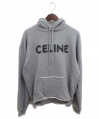 CELINE(セリーヌ)の古着「21SS スタッズ付ルーズスウェットシャツ」|グレー