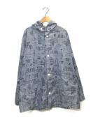 ()の古着「フーデットシャツ」|ブルー