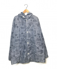 NEPENTHES (ネペンテス) フーデットシャツ ブルー サイズ:M