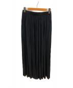 ()の古着「サテンギャザースカート」 ブラック